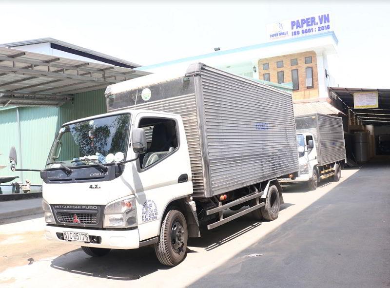 Xe giao hàng miễn phí tại Thế Giới Giấy