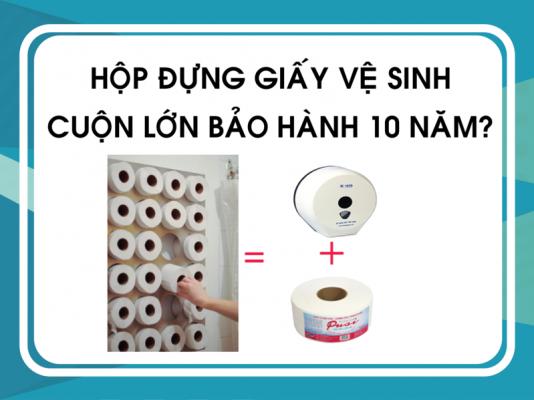 Hộp đựng giấy vệ sinh cuộn lớn bảo hành 10 năm