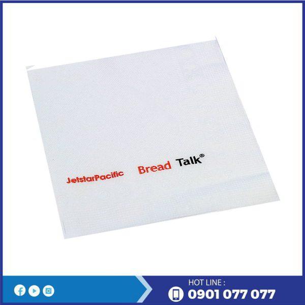 Cung cấp khăn giấy in logo thương hiệu bánh mì bread-thegioigiayvn.com