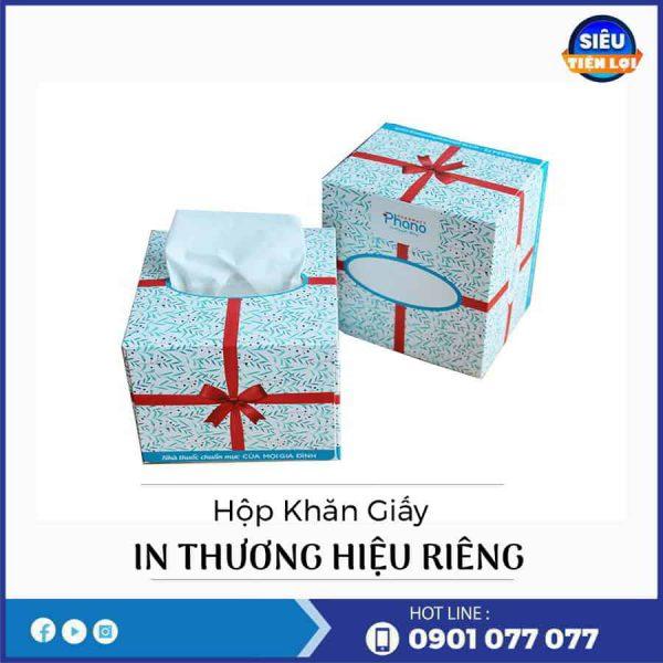 Công ty bán khăn giấy lụa hộp in thương hiệu
