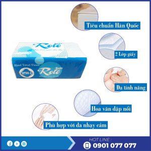 Đặc điểm khăn giấy lau tay rt20-2