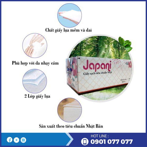Đặc điểm của khăn giấy lụa hộp JPS180-thegioigiayvn.com