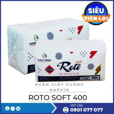 Cung cấp khăn giấy vuông napkin rts400-thegioigiayvn.com