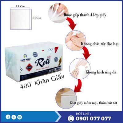 Ưu điểm của khăn giấy napkin vuông RTS400-thegioigiayvn.com