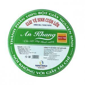 Cung cấp giấy vệ sinh cuộn lớn An Khang Soft 700 - Thegioigiayvn.com