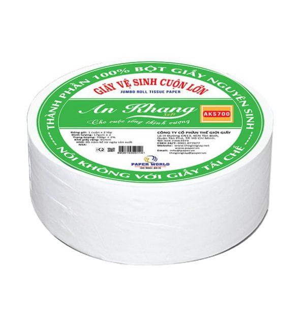 Thế Giới Giấy cung cấp giấy vệ sinh cuộn lớn An Khang Soft 700