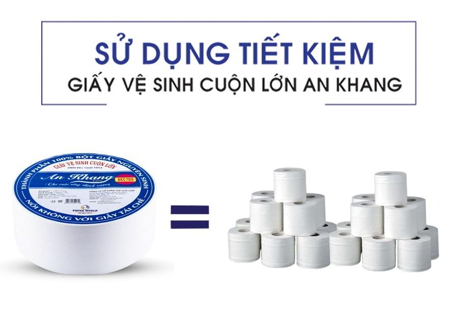 Sử dụng tiết kiệm cùng giấy cuộn lớn AKC700