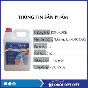 Thông tin sản phẩm xà bông rửa tay roto care500-thegioigiayvn.com