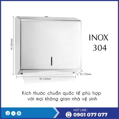 Kích thước hộp đựng giấy lau tay inox RT1220I-thegioigiayvn.com