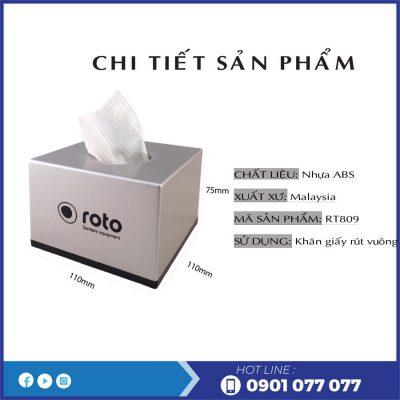 Chi tiết sản phẩm hộp đựng giấy lau tay để bàn RT809-thegioigiayvn.com