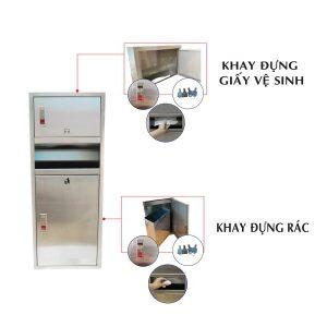 Chi tiết sản phẩm hộp đựng giấy lau tay có thùng rác roto730-thegioigiayvn.com