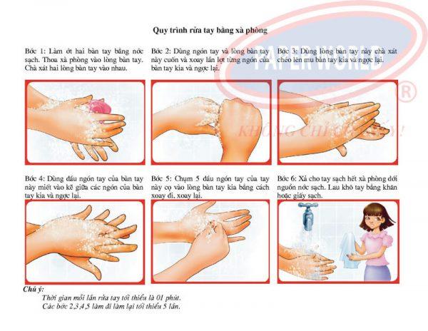 Hướng dẫn cách rửa tay với xà bông roto care500-thegioigiayvn.com