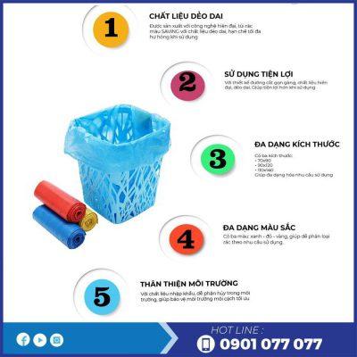 Lợi ích khi sử dụng túi rác màu saving-thegioigiayvn.com
