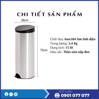 Chi tiết sản phẩm thùng rác rdtl9019-thegioigiayvn.com