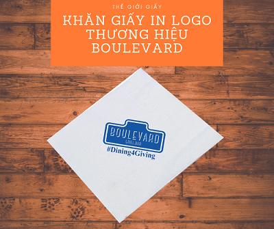 Khăn giấy in logo thương hiệu Boulevard