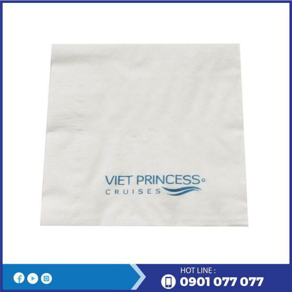 Khăn giấy napkin in logo thương hiệu Viet Princess