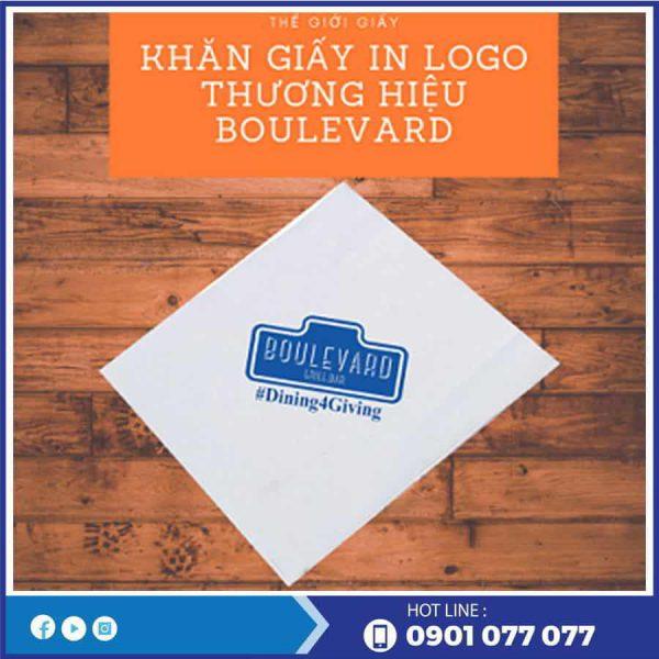 Cung cấp khăn giấy in logo thương hiệu boulevard-thegioigiayvn.com