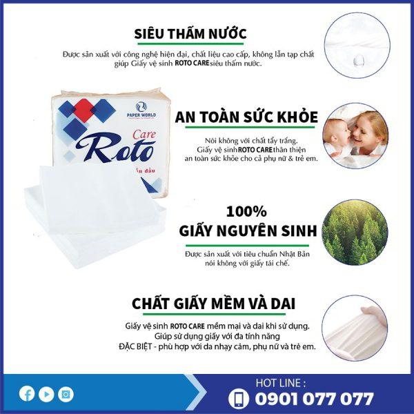Ưu điểm nổi bật của khăn ăn cao cấp roto care102-thegioigiayvn.com