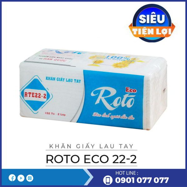 Cung cấp khăn giấy lau tay roto eco22-2-thegioigiayvn.com