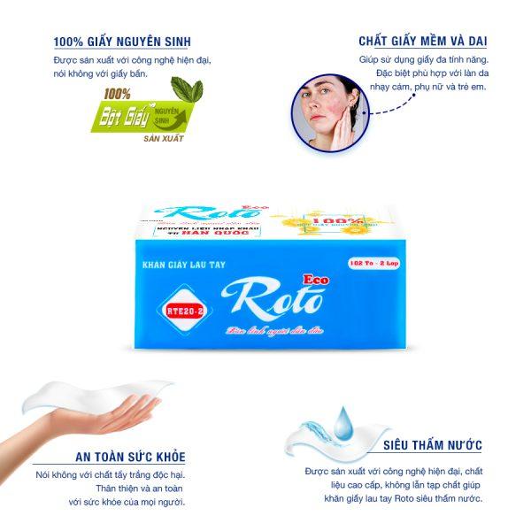 Khăn giấy lau tay Roto Eco 20-2