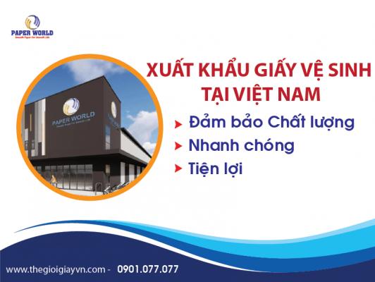 Xuất khẩu giấy vệ sinh tại Việt Nam