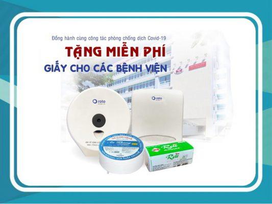 Tặng miễn phí giấy khăn giất và hộp đựng cho bệnh viện phòng chống covid-19