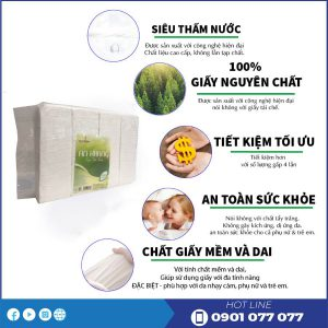 Chất lượng sản phẩm khăn ăn an khang Soft1500
