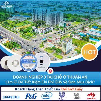 giấy vệ sinh công nghiệp tại Thuận An